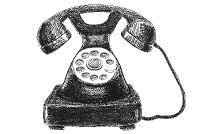 telefono nero vecchio stile