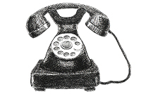 telefono nero antico