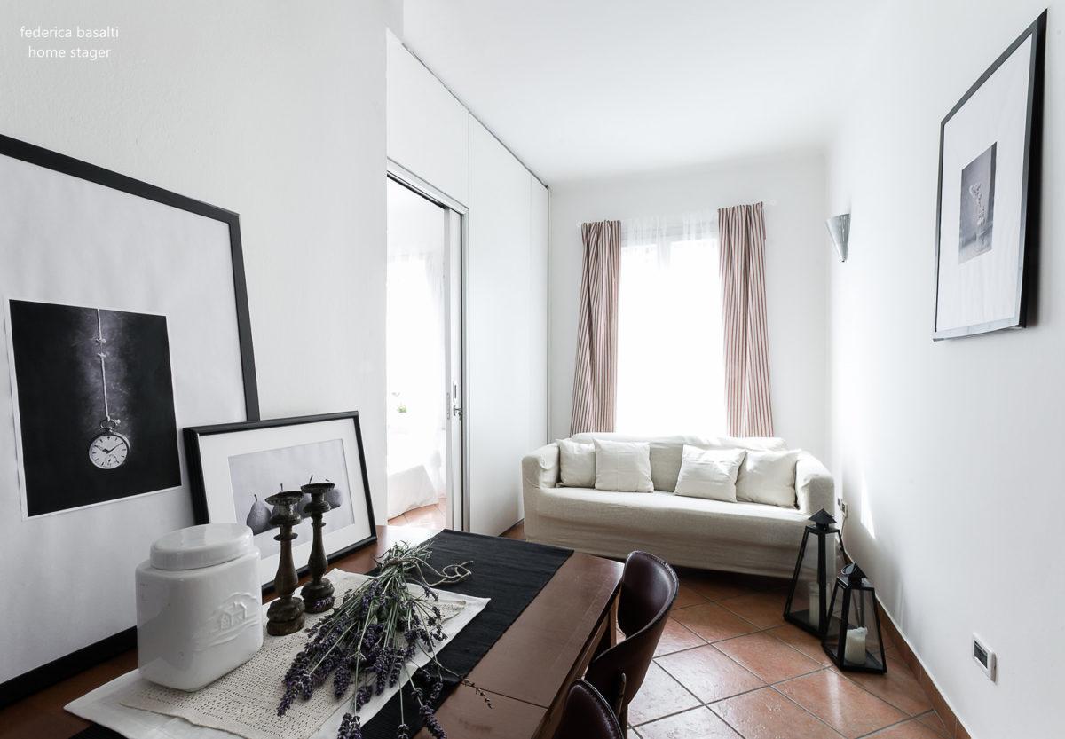 salotto home staging Bologna - Federica Basalti