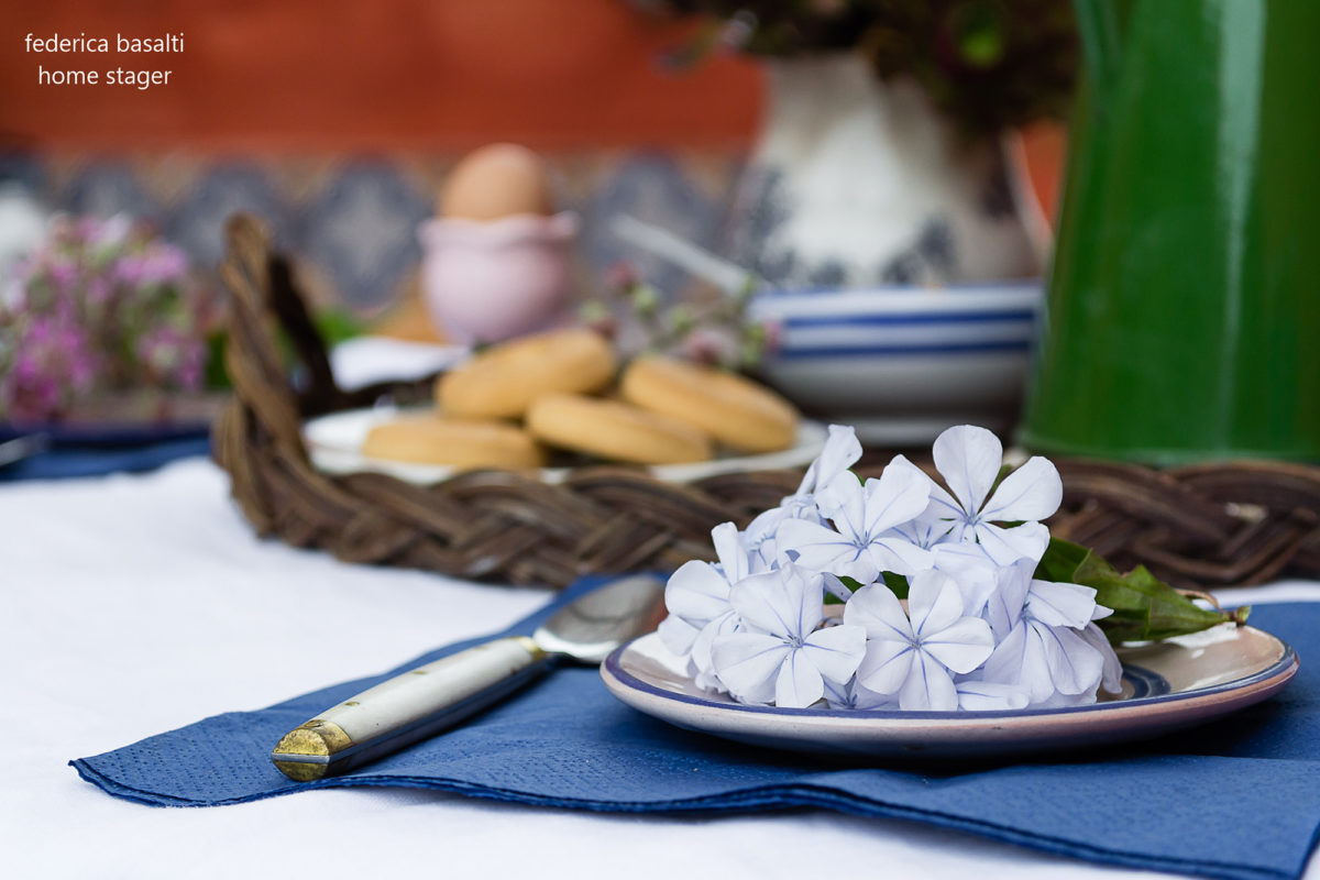 Particolare tavola da colazione - casa vacanze Alicudi