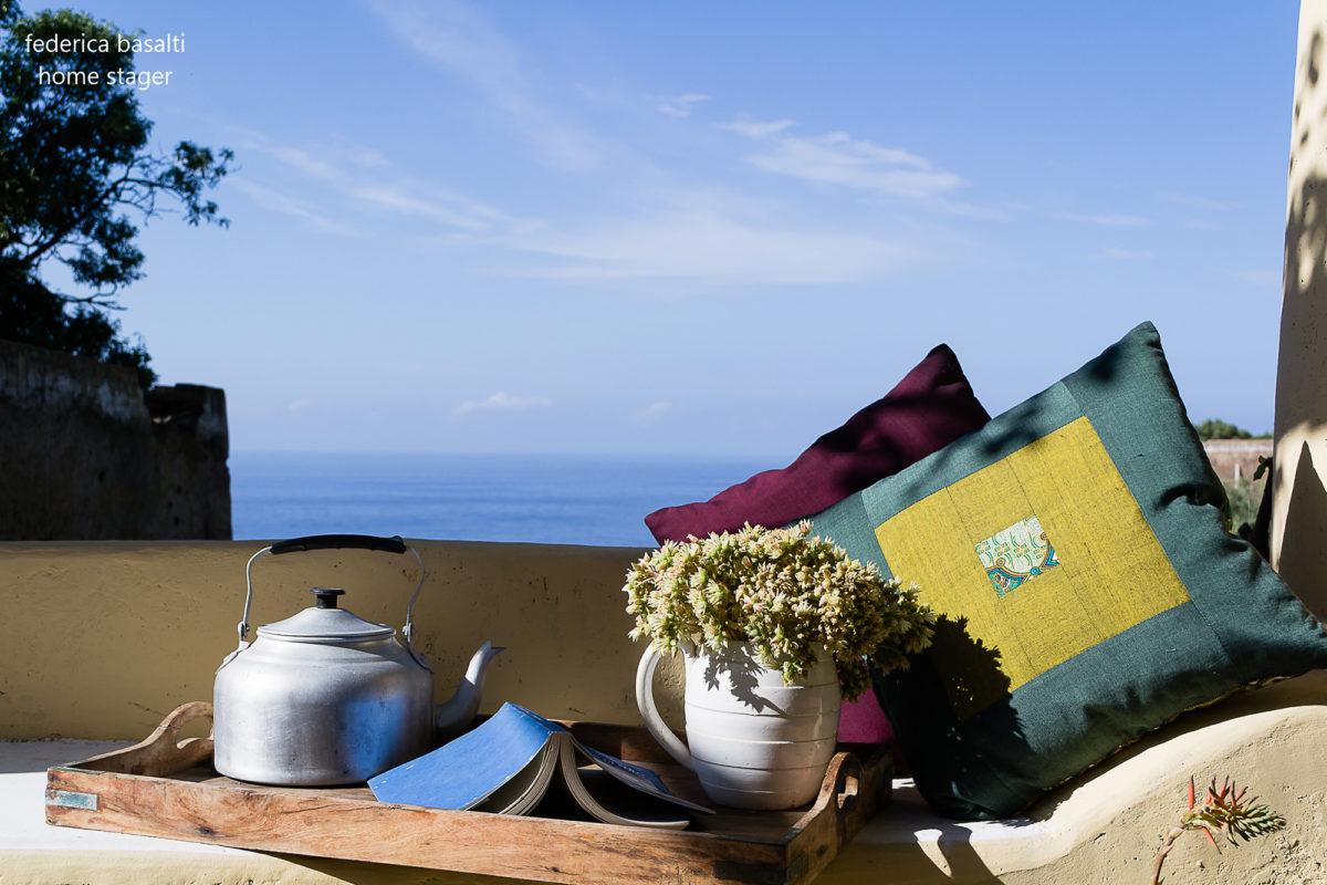 Terrazzino esterno casa vacanze - home staging