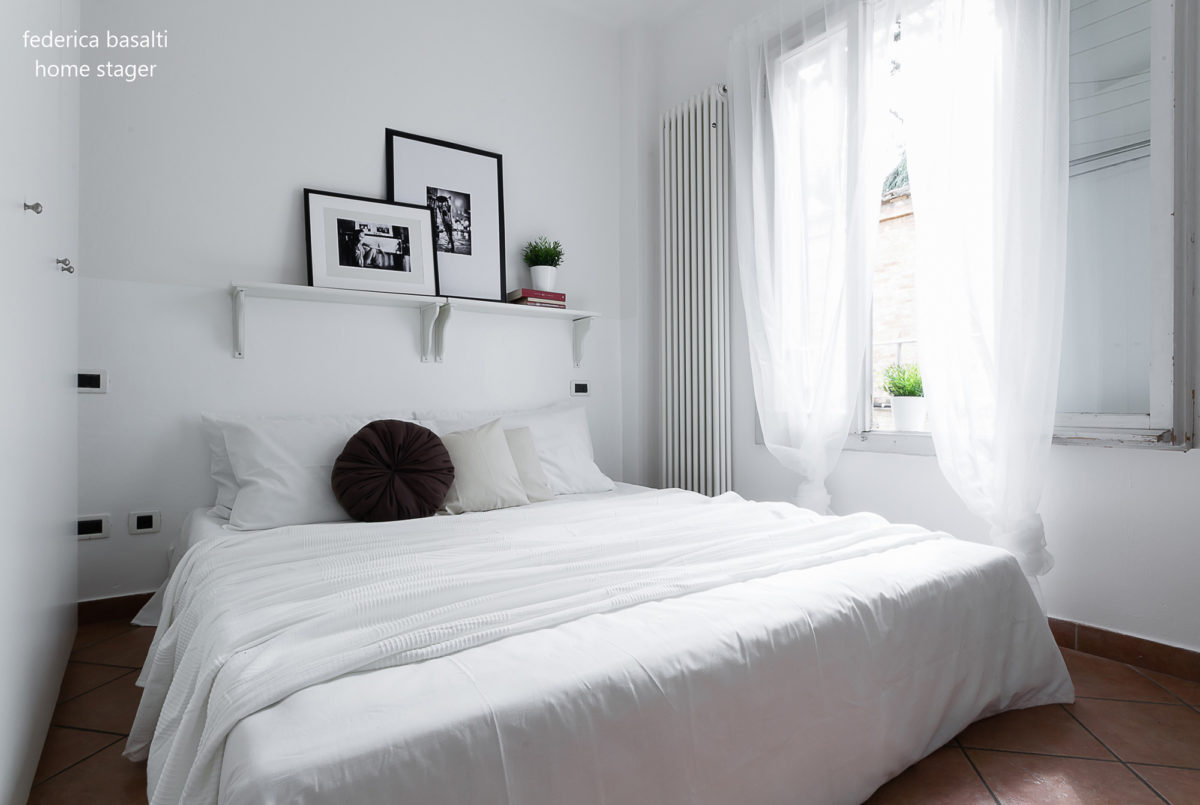 home staging - camera da letto Bologna