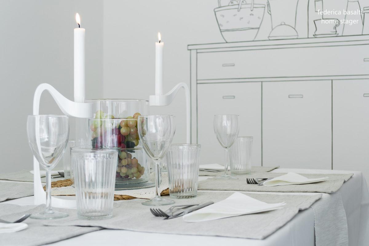 Particolare sala da pranzo - Home staging