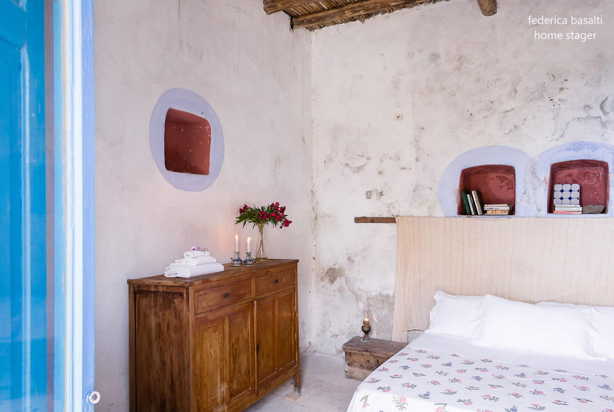 Particolare camera da letto dopo home staging