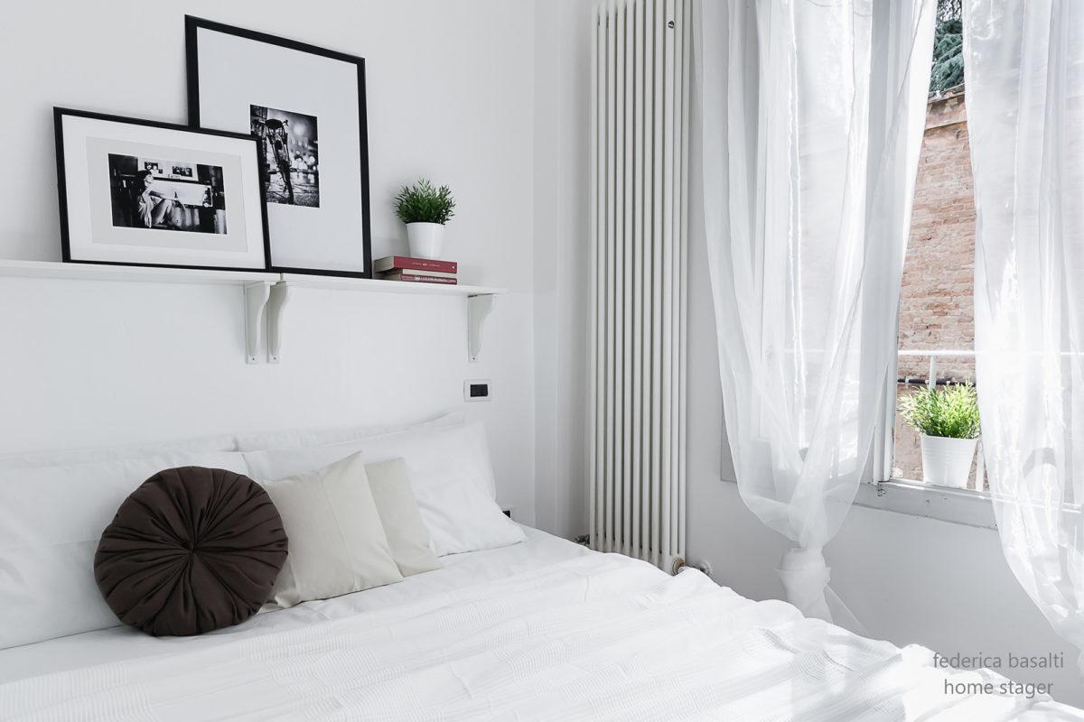 Particolare camera da letto Bologna - home staging