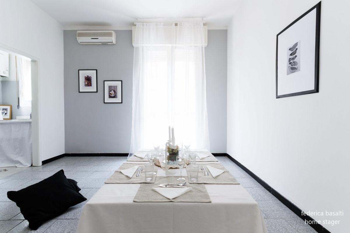 Sala da pranzo - vista tavolo dopo Home Staging