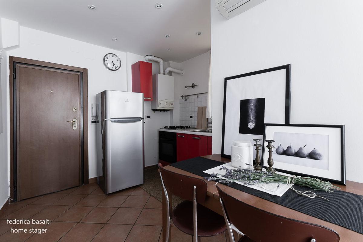 Appartamento con intervento dell'home stager Federica Basalti