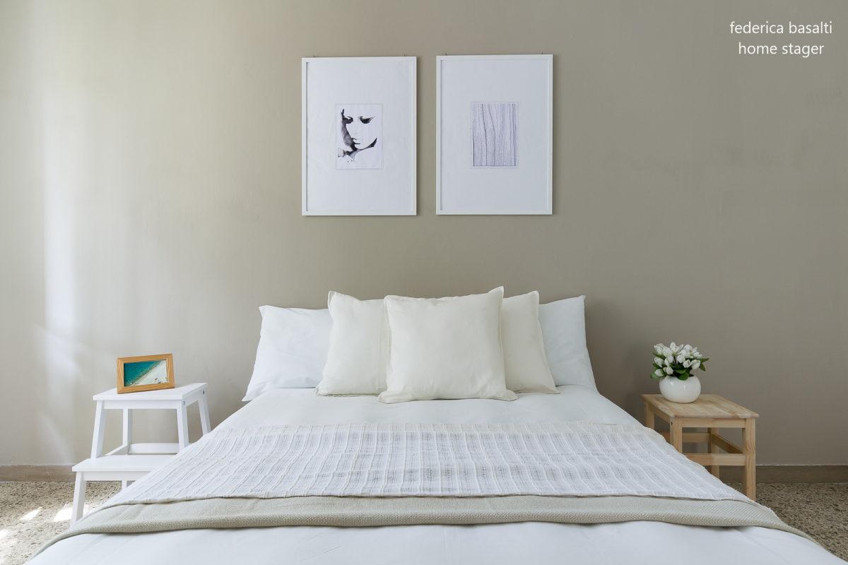 Foto frontale camera da letto dopo Home staging